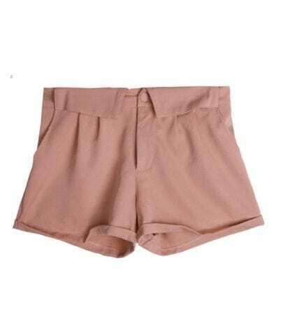 All-match Candy Color Loose Shorts Pink