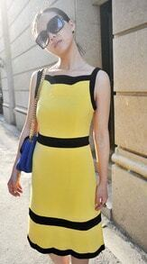 Yellow Street Sleeveless Above Knee Dress