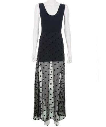 Boheimia Polka Dot Black Round Neck Sleeveless Dress