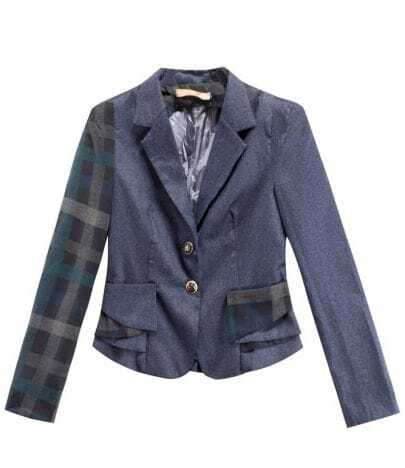 Vintage Irregular Plaid Long Sleeve Slim Suit