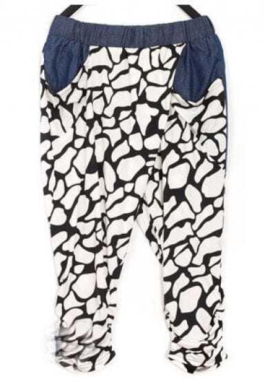 Black White Pinup Joker Pants