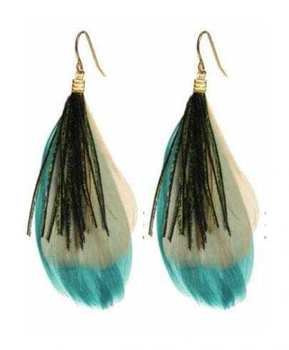 Individuality Feather Purl Earrings