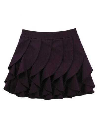 All Match Wine Red Pleated Ball Gown Skirt