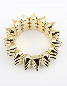 Solid Gold Punk Rivet Bracelet