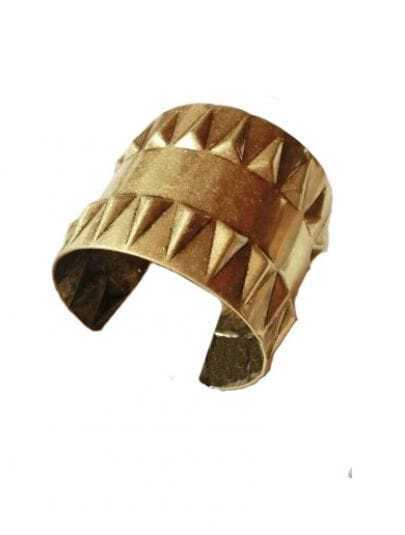 Punk Rivet Dark Gold Bracelet