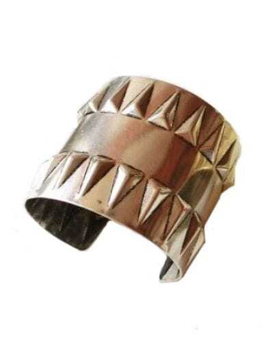 Punk Rivet Dark Silver Bracelet