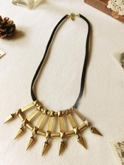 Punk Vintage Copper Rivet Necklace