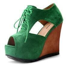 Green Suede 115mm Pumps