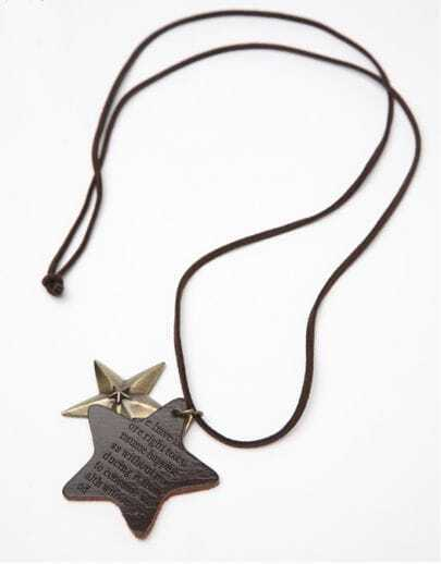 Brown Active Star Metal Necklace
