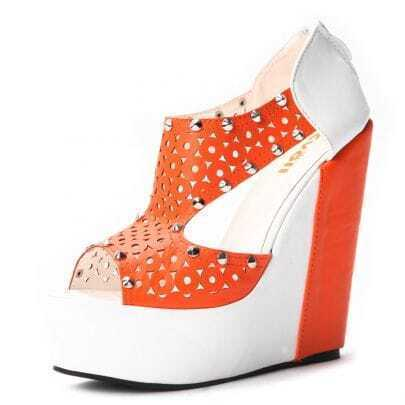 Orange PU Rivet 145mm Wedges