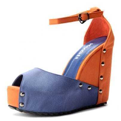 Blue Orange Pin Up PU 125mm Wedges