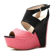 Rose Red PU 140mm Wedges