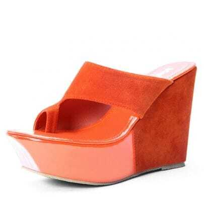 Orange Woolen 115mm Wedges