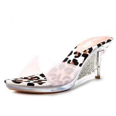 Pink Transparent 85mm Sandals
