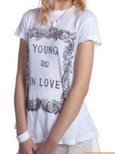 White Young and In Love Short Sleeve T-shirt