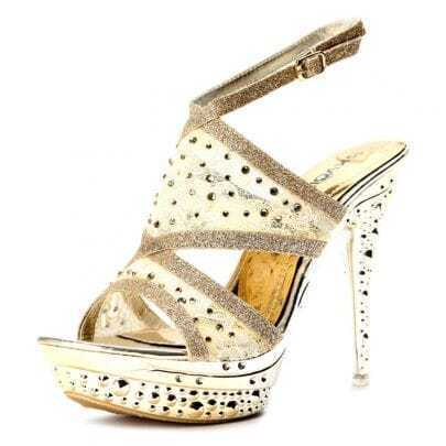 Golden Lace 130mm Sandals