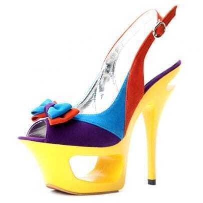Bow Purple Woolen 155mm Sandals