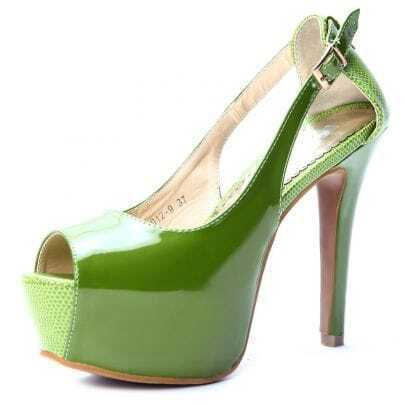 Green Patent Leather 125mm Sandals