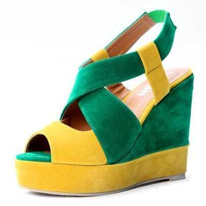 Yellow Green Pin Up Woolen 120mm Wedges