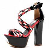 Red Patent Leather 135mm Sandals