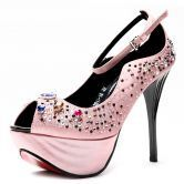 Pink Jewelled 125mm Sandals
