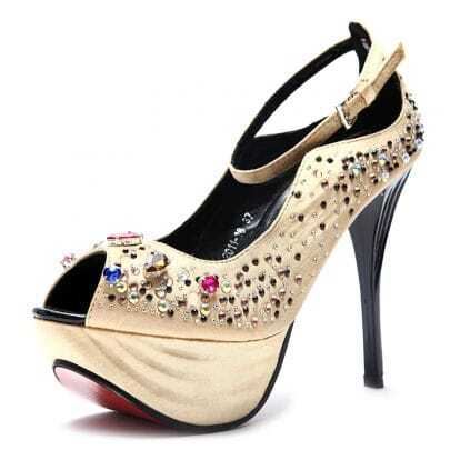 Golden Jewelled 125mm Sandals