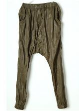 Green Vintage Loose High Waist Pants
