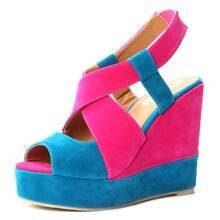 Blue Red Pin Up Woolen 120mm Wedges