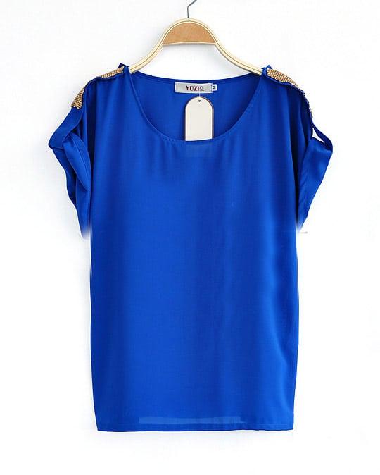 Купить Синюю Блузку В Спб