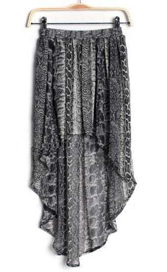 Serpentinite Street Animal Print chiffon Full-Length Dress
