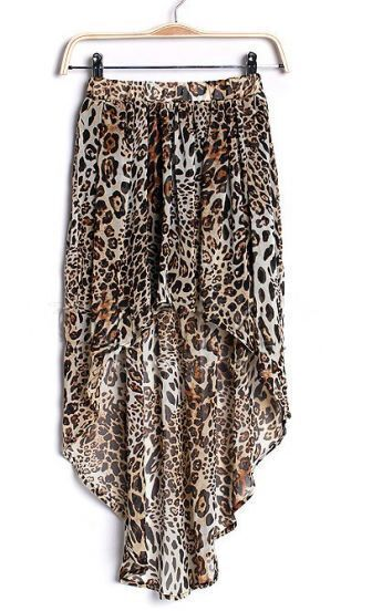 Leopard Street Animal Print chiffon Full-Length Dress