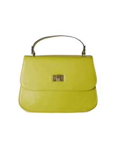 Green Vintage Leather Metal Handbag