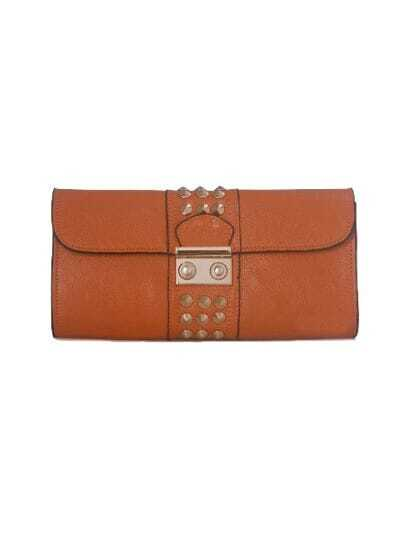Orange Leather Studded Chain Punk Satchels