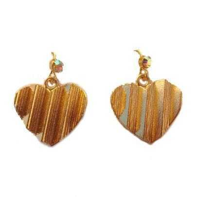 Gold Personality Heart Earrings