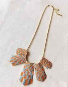 Vintage Multicolor Geometry Shape Peandant Necklace