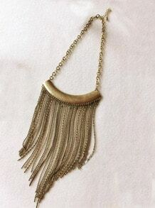 Gold Long Tassel Necklace