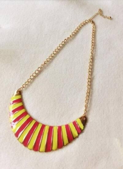 Vintage multicolor Moon Peandant Necklace