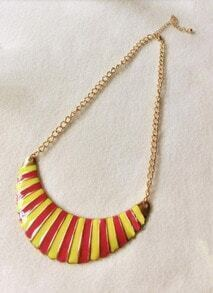 Vintage multicolor Moon Peandant Necklace