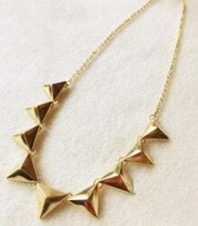 Gold Rivet Punk Necklace