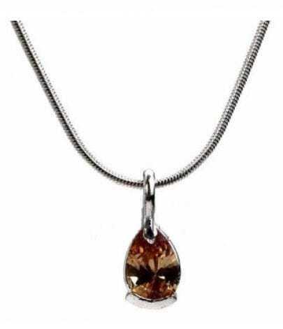 Light Brown Teardrop Penadnt Necklace