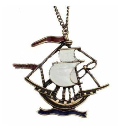 Vintage Sailboat Long Necklace
