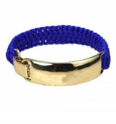 Blue And Gold Cuff Bracelet