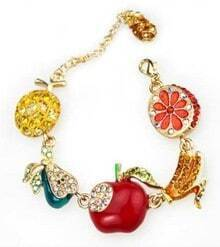 Fashion Jelly Fruit With Diamond Bracelet