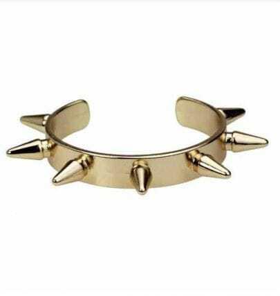 Spike Gold Bangle Cuff Bracelet