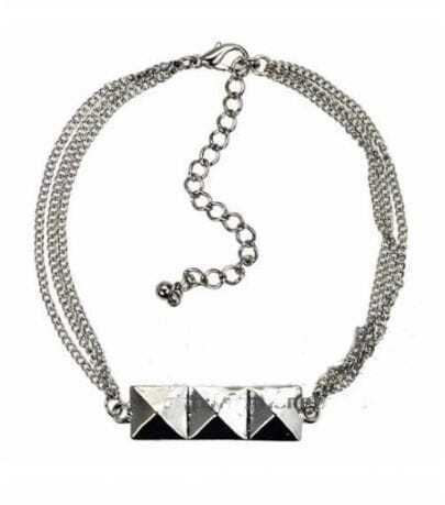 Small Subsection Silver Three Squares Bracelet