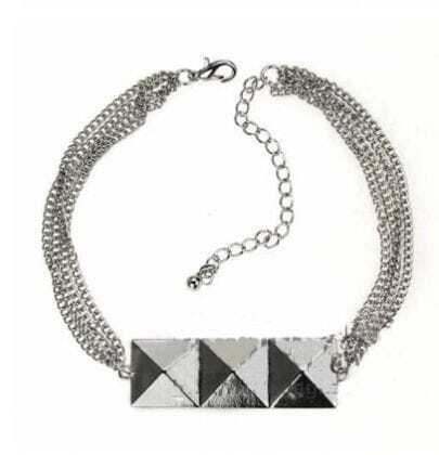 Wealthy Silver Three Squares Bracelet