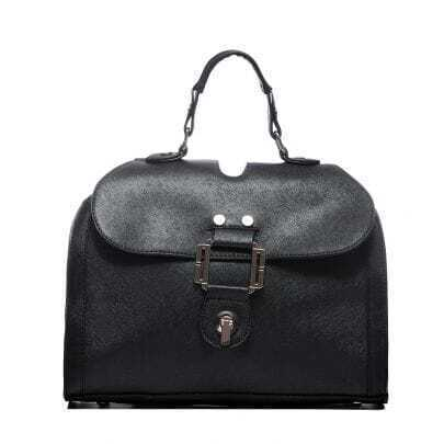 Black PU Convertible Shoulder Bag