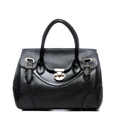 Black PU Fashion Totes Handbag