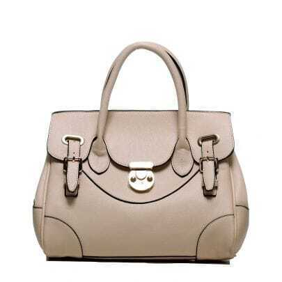 White PU Fashion Totes Handbag