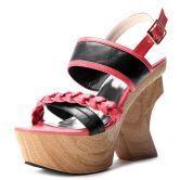 Red PU Espadrille 130mm Sandals